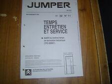 DOCUMENT CITROËN JUMPER TEMPS ENTRETIEN ET SERVICE 16 FICHES MAI 2002