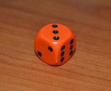 Chessex Dadi Dado Dice D6 facce Arancio con puntini Neri risiko monopoli mtg