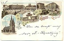 Cassel (Kassel), Farb-Litho mit Post, 1897