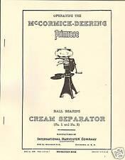 IHC McCormick-Deering Primrose Cream Separator Manual