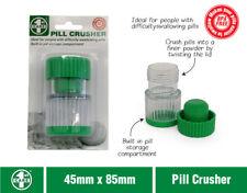 Portable Pill Pulverizer Tablet Grinder Medicine Cutter Crusher Storage Compartm