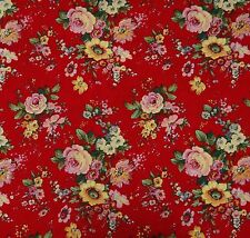"100% Cotton Red Fabric 44"" Wide Designer Fabrics Sewing Crafting By The Yard"