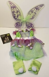 Disney Spooky Nights Tinker Bell Dog Costume Small Wings Leg Covers Sparkle 2007