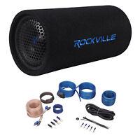 """Rockville RTB65A 6.5"""" 300 Watt Powered Subwoofer Bass Tube + MP3 Input + Amp Kit"""