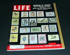 LIFE MAGAZINE NOVEMBER 30 TH 1959 RAINBOW OF STAMPS