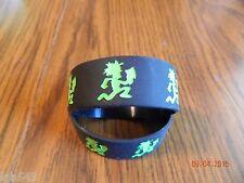 NEW-  INSANE CLOWN POSSE  black/green Hatchet man rubber wristbands(2-piece set)