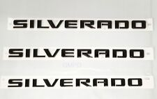 Chevrolet Silverado GM 3 Pack Door and Tailgate Black Silverado Emblems 84300946