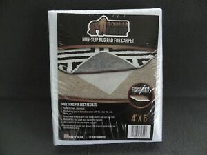 NEW Gorilla Grip Non-Slip Area Rug Carpet Pad Gripper No 4' x 6' Cushion USA