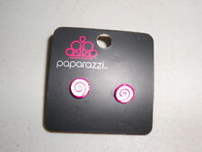 Paparazzi Kids Earrings (new) SWIRLS - BERRY & WHITE