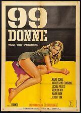 MANIFESTO, 99 DONNE Der heiße Tod JESUS FRANCO, EROTICO, POSTER, Women in Prison