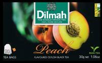 DILMAH Tee - Peach Flavoured Black Ceylon Tea  20 Teebeutel