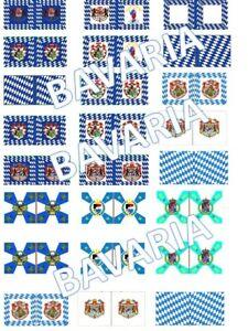 1/72 Napoleonic Bavaaria Flags lot