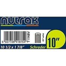 Nutrak 10 1/2 x 1 7/8 inch (270 x 47-203)Schrader innertube 45 dgree valve Black