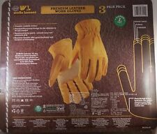 Wells Lamont Mens Leather Work Safety Gloves Heavy Duty 3 Pair Large