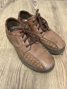 Clarks Mens Tan Brown Supa Weave Lace Up Shoes Super Light Size 8UK G