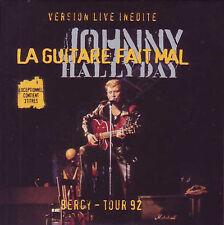 CD Single Johnny HALLYDAY La guitare fait mal 3-Track CARD SLEEVE 9838198 NEUF