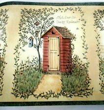 Chesapeake Country Border Wallpaper Old Back House 5 yds WO73811 Prepasted