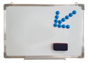 WELLGRO® Whiteboard 40x60 cm Magnettafel Schreibtafel Memoboard Wandtafel Tafel