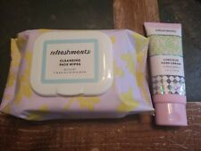 Ipsy Refreshments Cleansing Wipes And Hand Cream Full Sized
