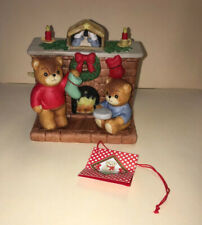 Vintage Lucy Rigg~Enesco~ Lucy And Me Bears Christmas Music Box 1985 Mint In Box