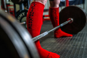 Red High Performance Deadlift Socks - Powerlifting - IPF Approved