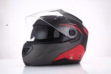Sparco Riders Casco Moto Modulare Nero/rosso opaco