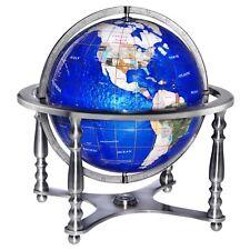 "Replogle Compass Jewel World Globe 13"" Blue Lapis Gemstone. Brand New!"