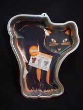 Wilton SCARY CAT Cake pan KITTEN metal baking mold tin Birthday HALLOWEEN Animal