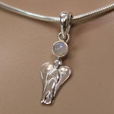 ANGELO ciondolo-argento 925 ARCOBALENO PIETRA DI LUNA cabochon CUSTODE amuleto