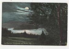 Lac Manitou Ste Agathe Des Monts Quebec Canada 1906 Moonlight Postcard US018