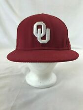 OU Oklahoma Sooners NCAA Men's New Era Fitted Hat Flat Bill Baseball Cap Red
