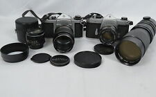 New ListingLot 2 Pentax Asahi Honeywell Spotmatic 35mm Film Cameras w/Lenses Yashinon Zoom