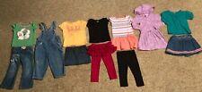 12 Piece Children Clothing Lot 3T Skort Pant Skirt Shirt Sweatshirt Jean Overall