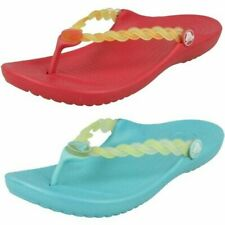 Girls Crocs Toe Post Sandals 'Chmlns Tns Weave Flp'