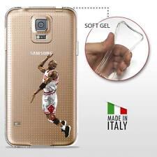Samsung Galaxy S5 TPU COVER PROTETTIVA GEL TRASPARENTE NBA Basket MJ Jordan