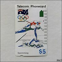 Telecom Barcelona Olympics 1992 Swimming N91042-2 118 $5 Phonecard (PH7)
