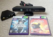 XBOX 360 Kinect Sensor LOT: OFFICIAL Xbox Kinect Camera + Zoom Lens + NEW Games