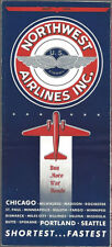 Northwest Airlines system timetable 5/43 [8121] Buy 4+ save 25%