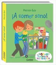 ¡A comer sano! (Los buenos hábitos en pop-up) (Spanish Edition)