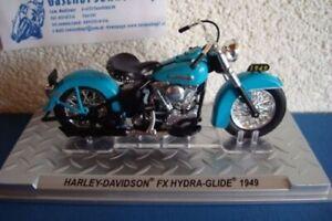 Harley Davidson 1949 Fx Hydra Glide Blue -topmodell 1:24