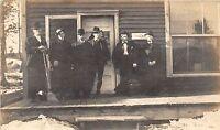 A16/ Occupational Men Job Real Photo RPPC Postcard c1910 Well-Dressed Staff 6