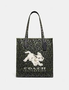 COACH X Disney 101 DALMATIANS CANVAS TOTE green NEW with tags 69177