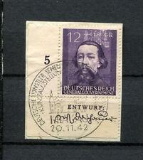 Gen. Gouvernement  Nr. 96 DV Entwurf auf Briefstück, Ersttag    (Ö32)