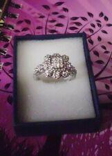 Judith Ripka Diamonique Cluster Ring - Size 10