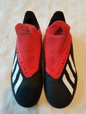adidas Red&black Faux Leather Boys Trainers Size Uk3 Nice Trainers.