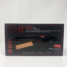 "CHI G2 Ceramic and Titanium 1 1/4"" Straightening, Curl,Flip Hairstyling Iron,"