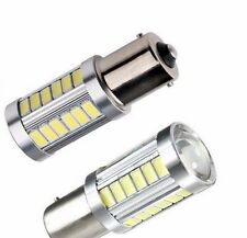 2x White CANBUS Error Free S25 1156 BA15S Cree 33SMD LED Light Bulb White Light