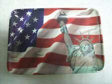 Design Imports Mebel Mini Tray Statue of Liberty American Flag Made in Italy