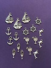 Tibetan Silver Lot Anchors Away Charms 18 pieces for Crafts and Jewelry DIY
