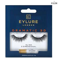 Eylure 3D DRAMATIC False Eyelashes No.193 Reusable lashes and Latex Free Glue